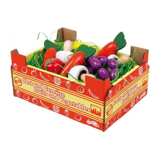 Speelgoed groente kistje