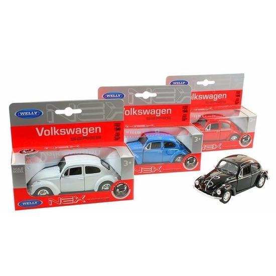 Speelgoed Volkswagen Kever classic zwart Welly autootje 14,5 cm