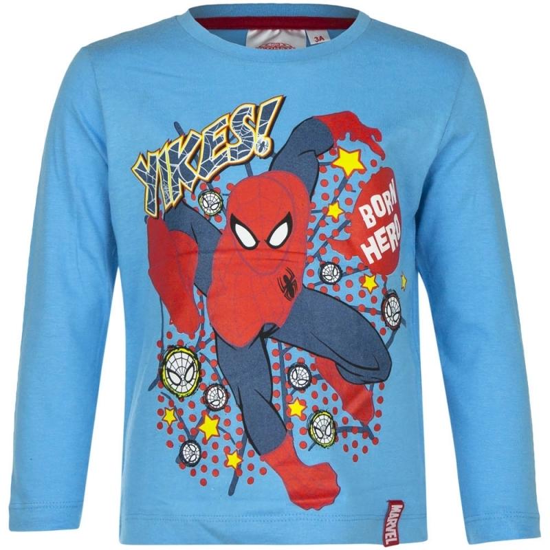 Spiderman shirt lange mouw blauw voor jongens