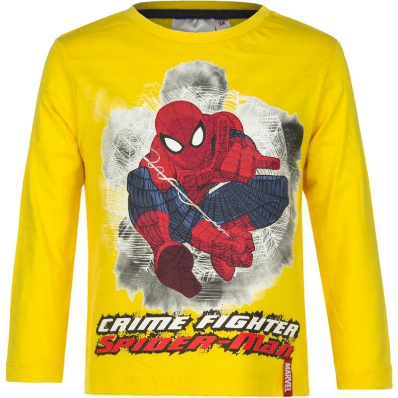 Spiderman shirt lange mouw geel voor jongens