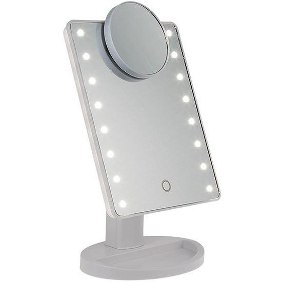 Spiegel met LED verlichting en vergrootspiegel