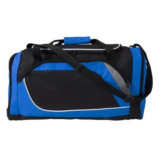 Sporttassen in blauw-zwarte print 45 liter
