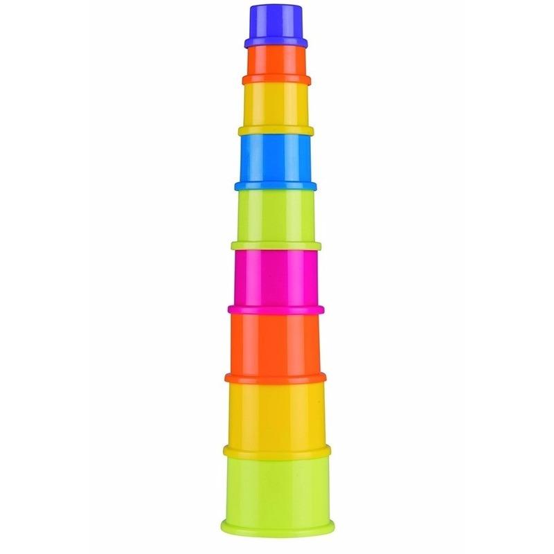 Stapeltoren peuter-baby speelgoed 9-delig