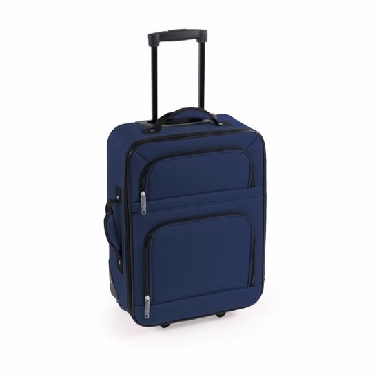 Stoffen koffer handbagage blauw 50 cm