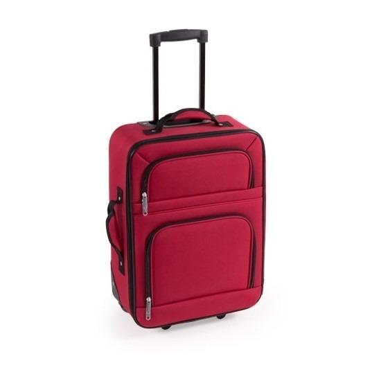 Stoffen koffer handbagage rood 50 cm