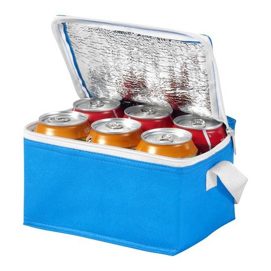 Strand sixpack mini koeltasje blauw