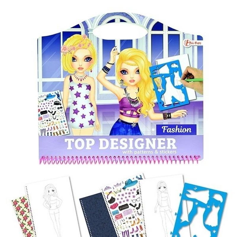 Tekenset kleding ontwerpen creatief speelgoed