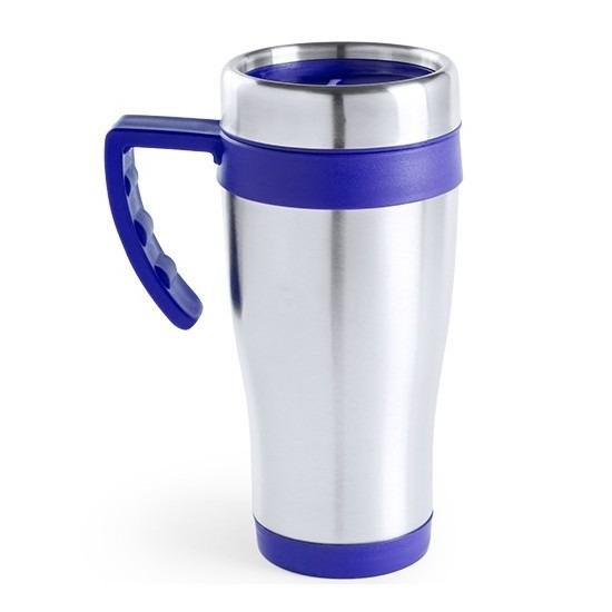Thermosbeker blauw handvat 500 ml