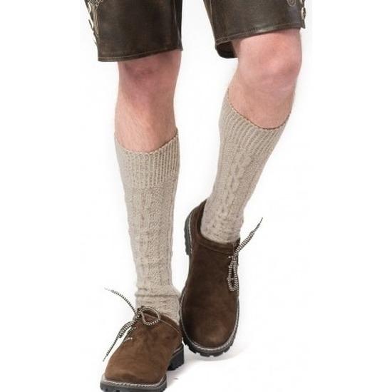 Tiroler-Bierfeest- lederhose sokken creme heren en dames