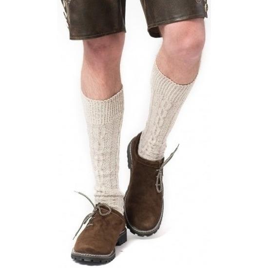 Tiroler-Bierfeest- lederhose sokken gebroken wit heren en dames