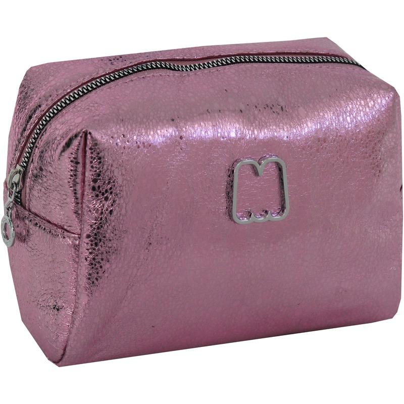 Toilettas metallic roze 22 cm Marshmallow voor meisjes