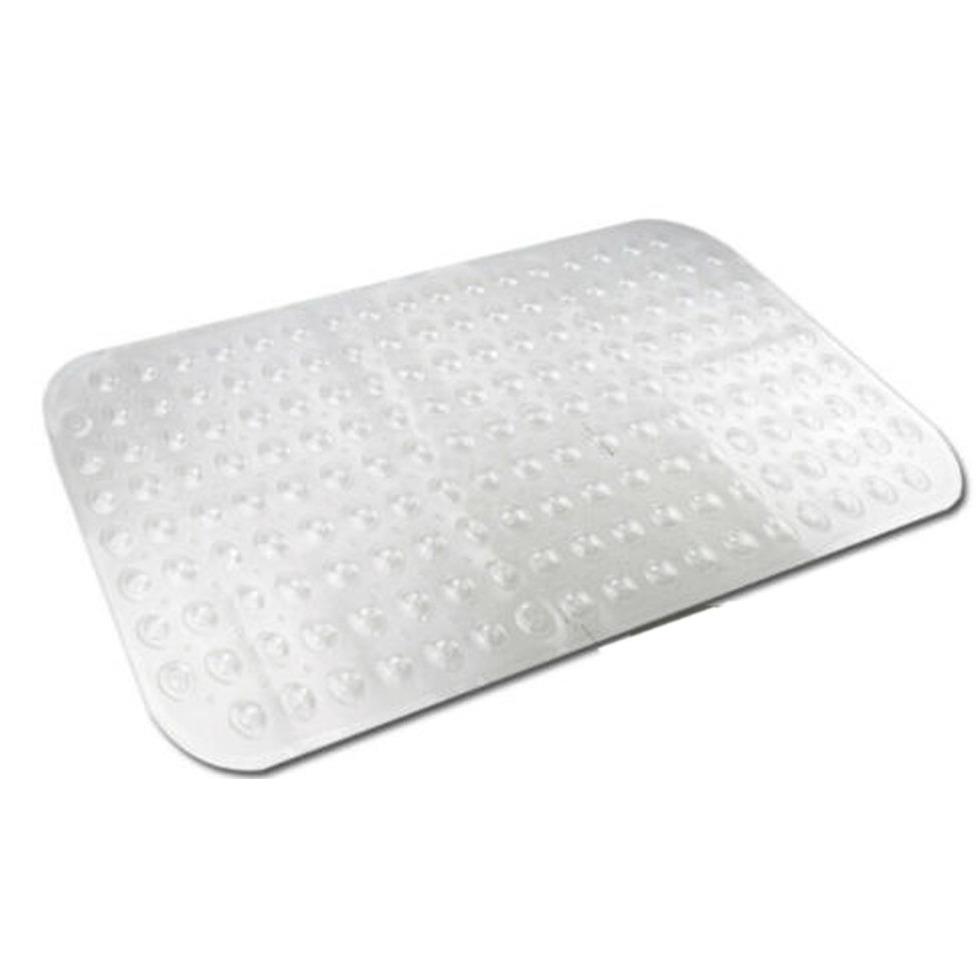 Transparante bad-douchemat anti-slip 52 x 53 cm