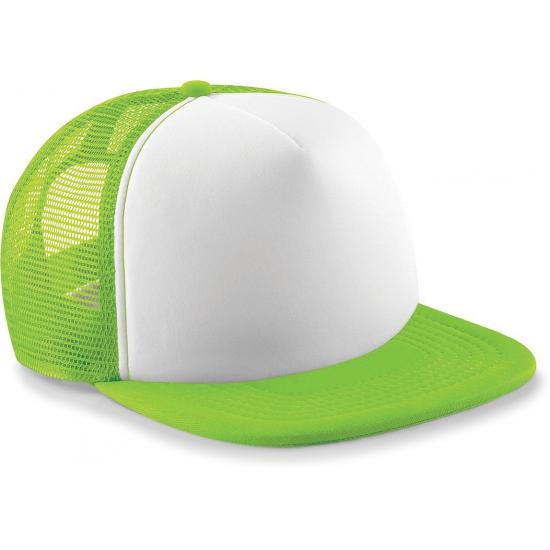 Trendy snapback pet lime groen