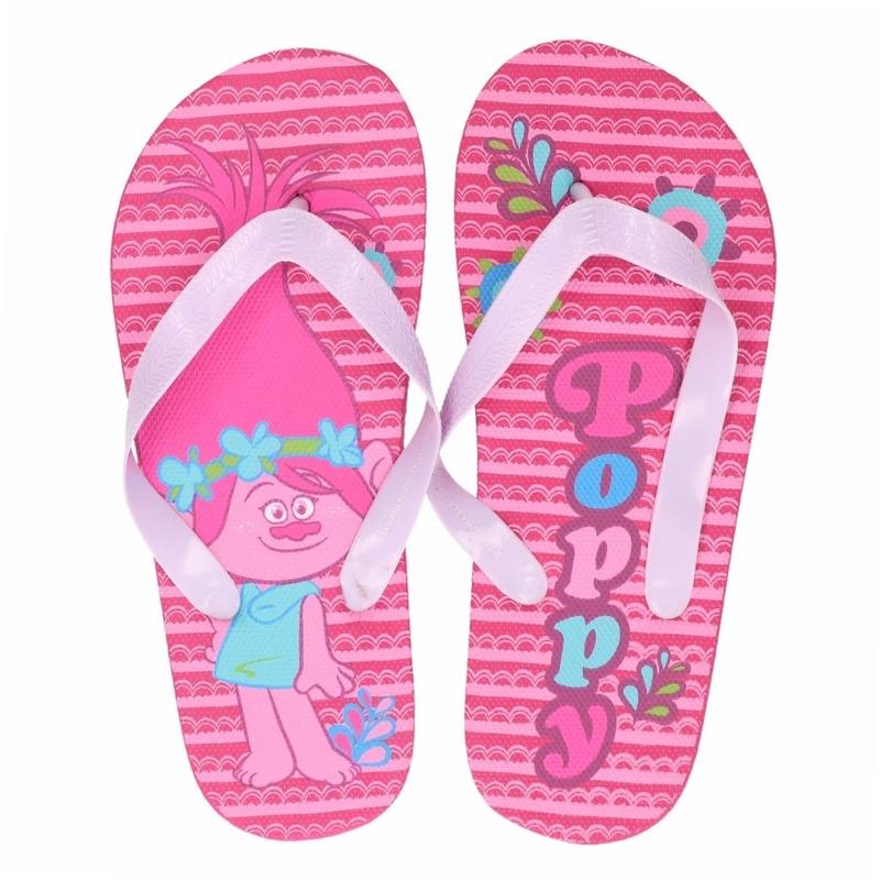 Trolls Poppy flip flops roze voor meisjes