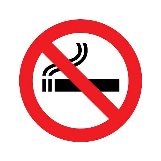 Verbod sticker roken