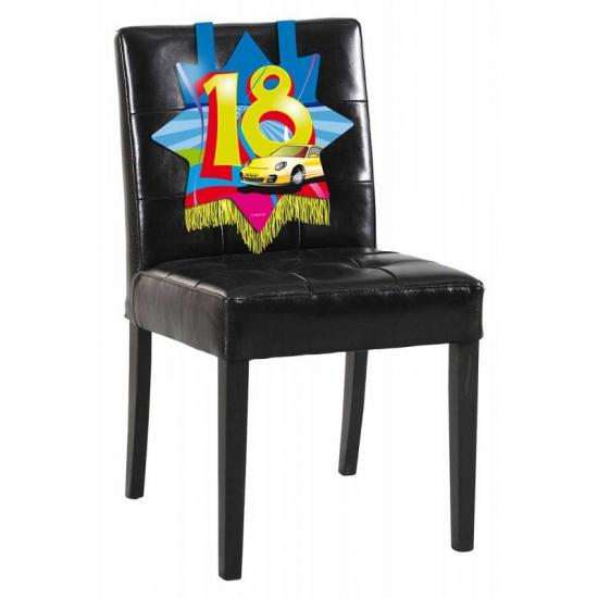 Verjaardags decoratie stoelbord 18