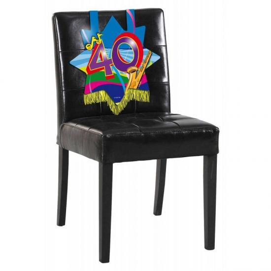 Verjaardags stoel decoratie 40 jaar