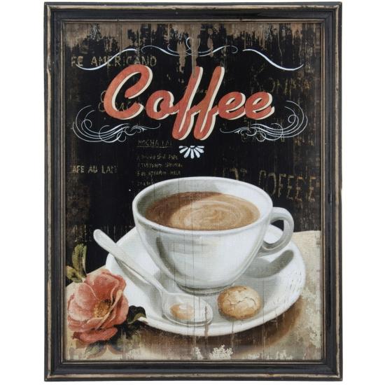 Vintage muurdecoratie koffie
