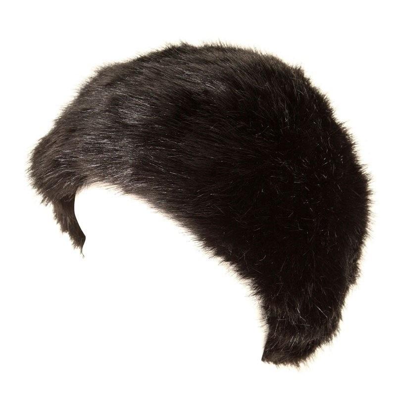 Warme bontmuts zwart voor volwassenen