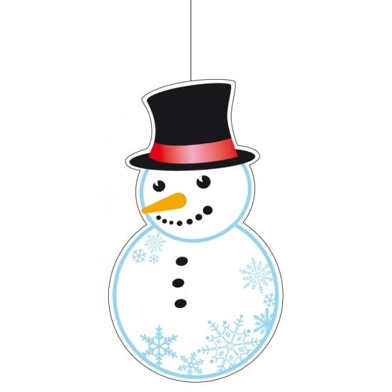 Winter sneeuwpop decoratie 41 cm