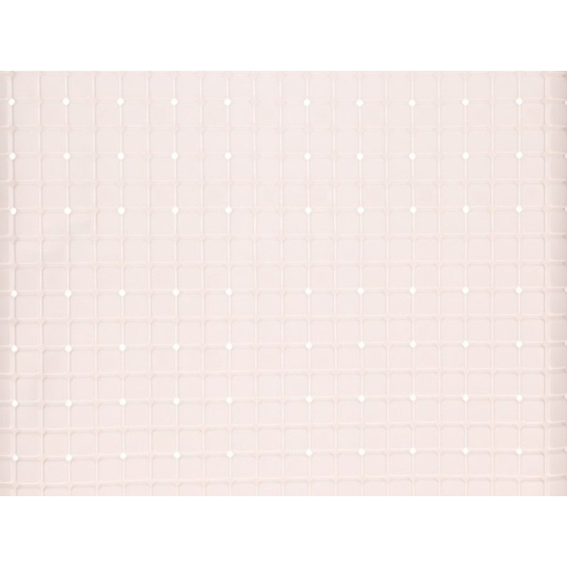 Witte douche-badmat anti-slip 69 x 39 cm