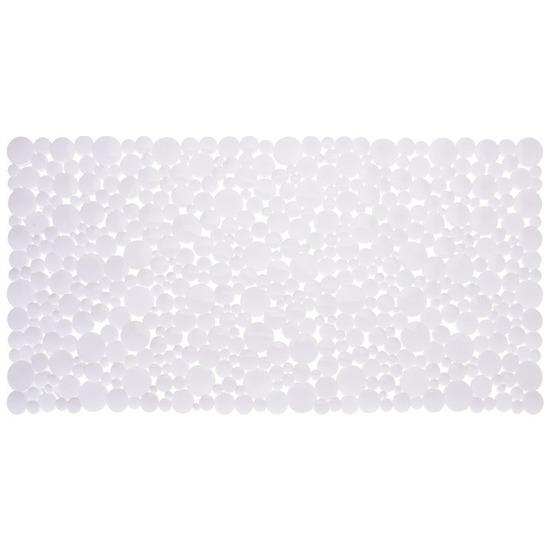 Witte douche-badmat anti-slip 77 x 39 cm