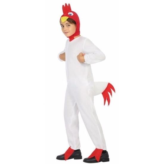 Witte haan-kip Doodle verkleedkleding voor jongens