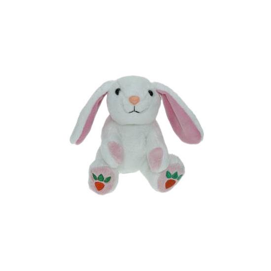 Witte konijnen-hazen knuffels 14 cm knuffeldieren