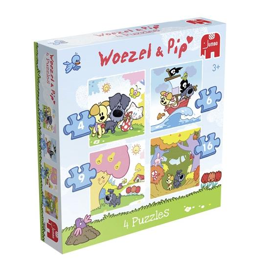 Woezel en Pip puzzelset 4-in-1