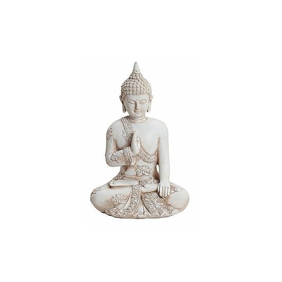 Woondecoratie Boeddha beeldje 17 cm
