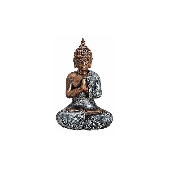 Woondecoratie Boeddha beeldje type 2 18 cm
