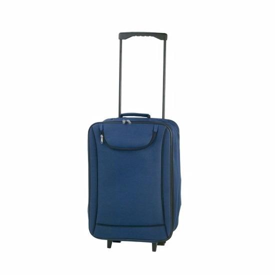 Zachte koffer handbagage blauw 1,1 kg