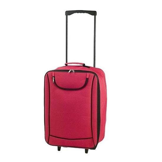Zachte koffer handbagage rood 1,1 kg