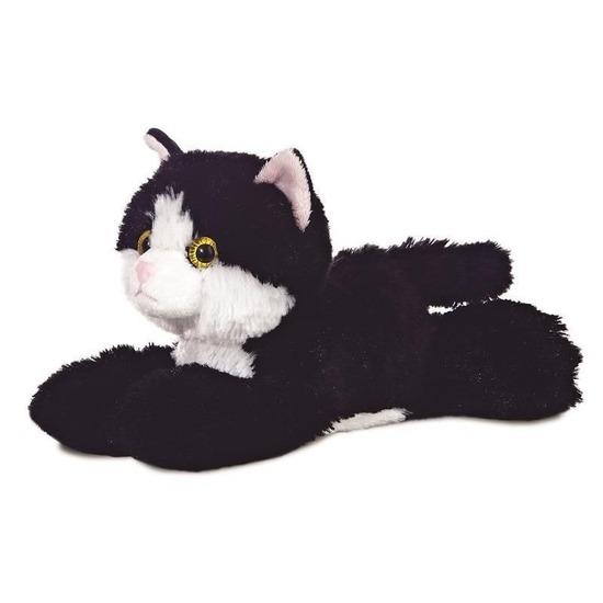 Zwart-witte kat knuffels 20 cm knuffeldieren