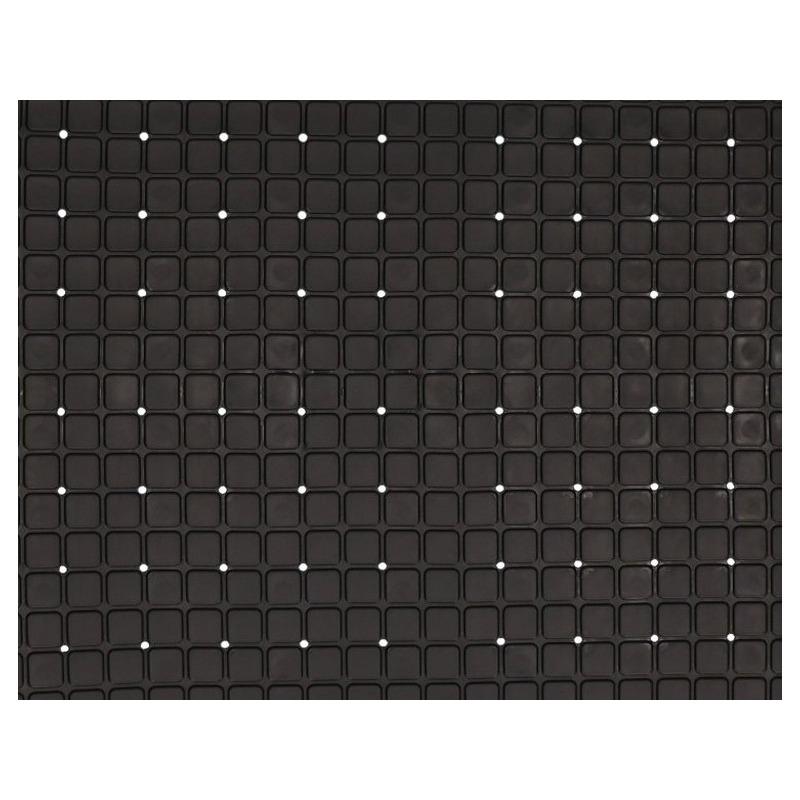 Zwarte douche-badmat anti-slip 69 x 39 cm