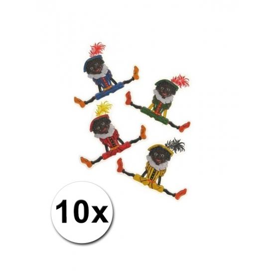 Zwarte Pieten versiering 10 stuks