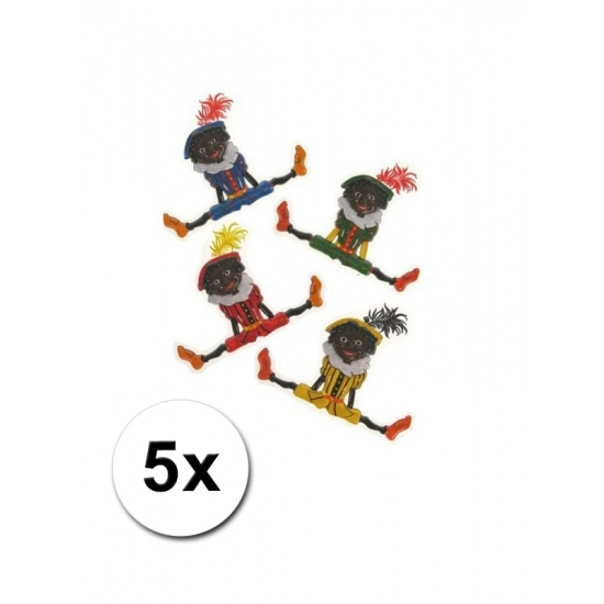 Zwarte Pieten versiering 5 stuks