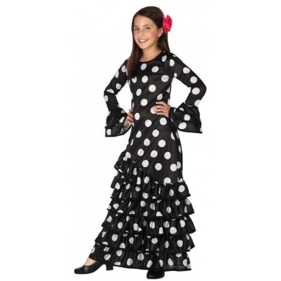 4b0f2900551cd7 Zwarte Flamenco verkleedjurk voor kids bestellen - Fashionstore