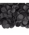 Zakje met 100 gram zwarte confetti