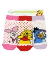 Baby slof sokken Winnie de Pooh gekleurd 3-pak
