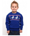 Foute kinder kerst polo blauw