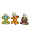 Woondecoratie Boeddha beeldjes 3 stuks