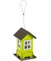 Metalen vogelvoerhuis groen 19cm