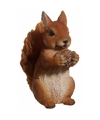 Tuinbeeld bruin eekhoorntje 15 cm