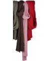 Gebreide donkerroze sjaals van 176 cm