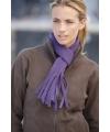 Fleece sjaals met franjes