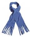 Fleece sjaals met franjes kobalt