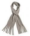 Fleece sjaals met franjes licht grijs