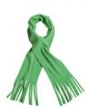 Fleece sjaals met franjes lime groen