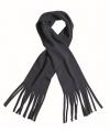 Fleece sjaals met franjes navy